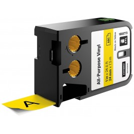 Dymo XTL Vinilinė juostelė 1868773 24mm x 7m, juodas ant geltonos