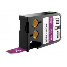 Dymo XTL Vinilinė juostelė 1868792 19mm x 7m, baltas ant violetinės